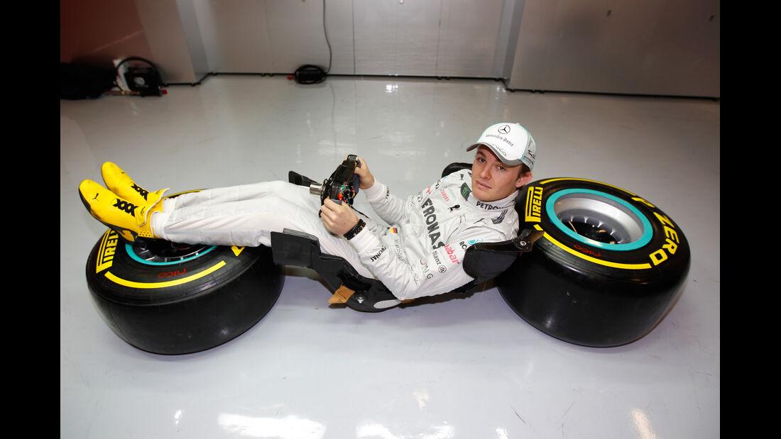 Nico Rosberg F1 Fun Pics 2012