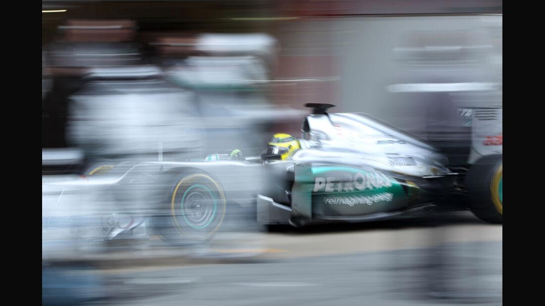Nico Rosberg - F1-Test - Barcelona 2012