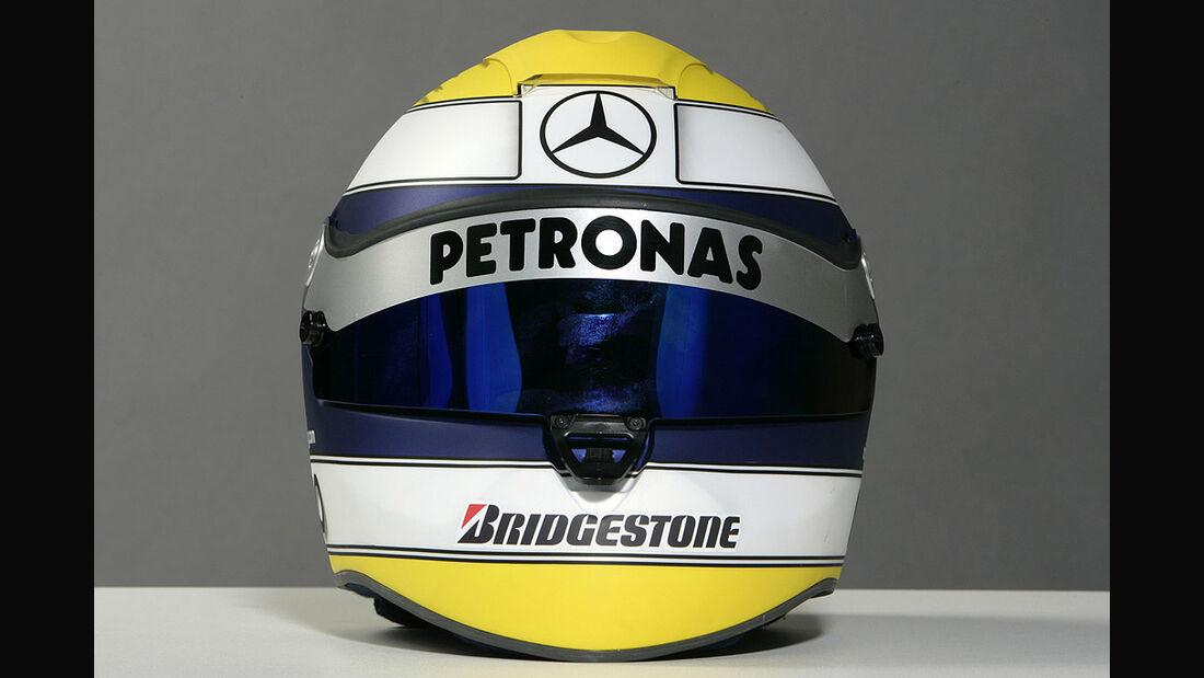 Nico Rosberg Formel 1 Helm 2010