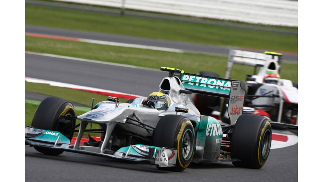 Nico Rosberg GP England 2011 Rennen