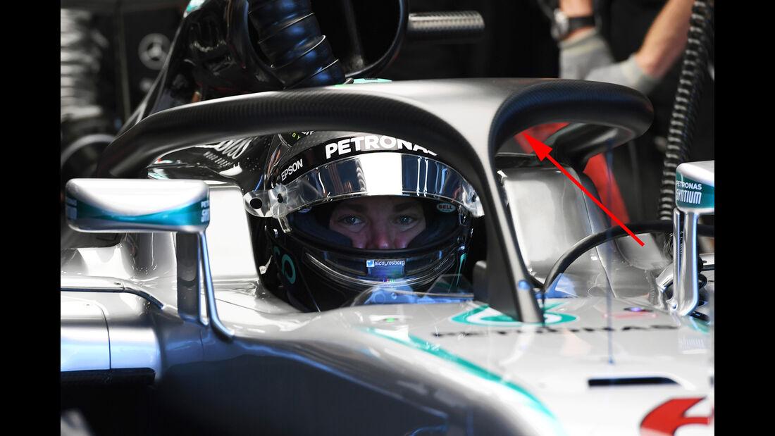 Nico Rosberg - Halo-Test - Belgien - 2016