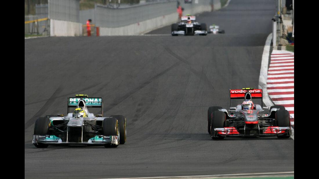 Nico Rosberg Jenson Button - Formel 1 - GP Korea - 16. Oktober 2011