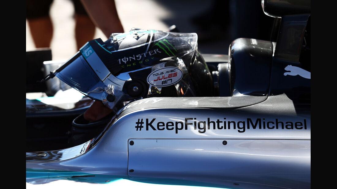 Nico Rosberg - Jules Bianchi-Tribute - GP Russland 2014