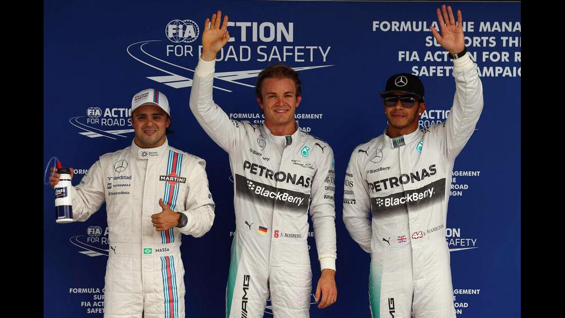 Nico Rosberg - Lewis Hamilton - Felipe Massa - Formel 1 - GP Brasilien - 8. November 2014