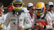 Nico Rosberg - Lewis Hamilton - Formel 1 - GP Bahrain - 21. April 2012