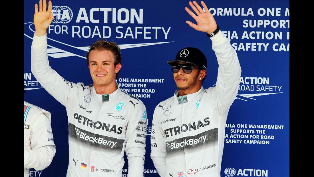 Nico Rosberg - Lewis Hamilton - Formel 1 - GP Brasilien - 8. November 2014