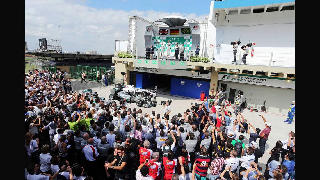 Nico Rosberg - Lewis Hamilton - Formel 1 - GP Brasilien - 9. November 2014