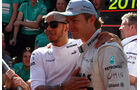 Nico Rosberg - Lewis Hamilton  - Formel 1 - GP England - 30. Juni 2013