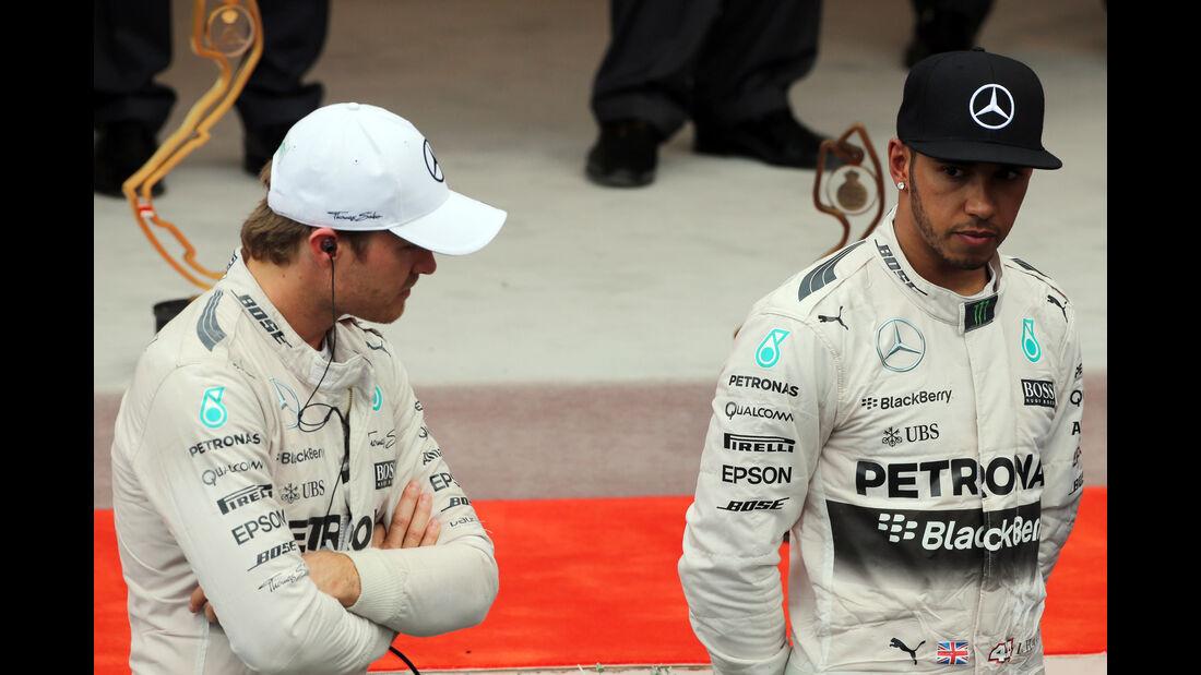 Nico Rosberg - Lewis Hamilton  - Formel 1 - GP Monaco - Sonntag - 24. Mai 2015
