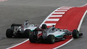 Nico Rosberg & Lewis Hamilton - GP USA 2015