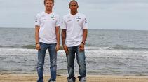 Nico Rosberg & Lewis Hamilton - Mercedes - Formel 1 - GP Australien - 14. März 2013