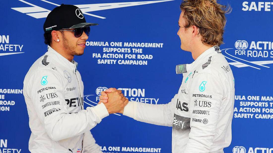 Nico Rosberg - Lewis Hamilton - Mercedes - Formel 1 - GP Brasilien - 8. November 2014
