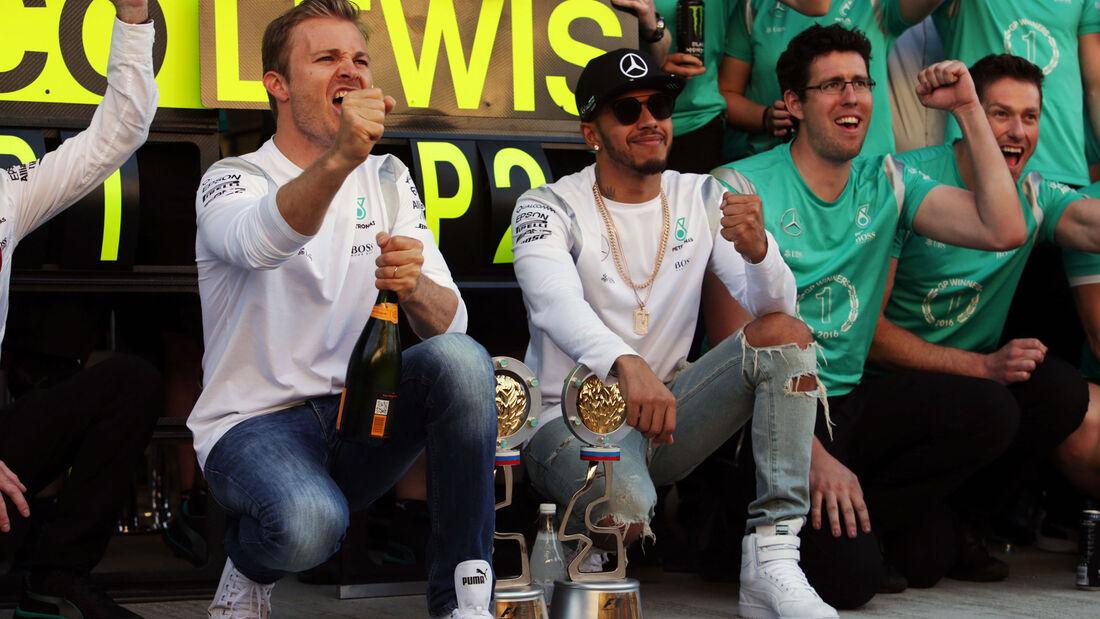 Nico Rosberg - Lewis Hamilton - Mercedes - Formel 1 - GP Russland - 1. Mai 2016