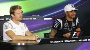 Nico Rosberg - Lewis Hamilton - Mercedes - GP Abu Dhabi 2016 - F1