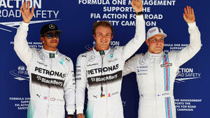 Nico Rosberg - Lewis Hamilton - Valtteri Bottas - Formel 1 - GP USA - 1. November 2014