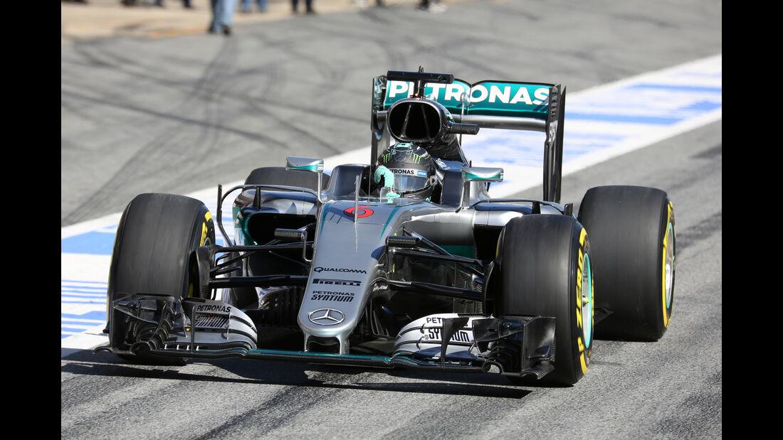 Nico Rosberg - Mercedes - Barcelona - Formel 1-Test - 1. März 2016