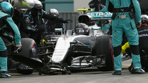 Nico Rosberg - Mercedes - Boxenstopp - GP Deutschland 2016
