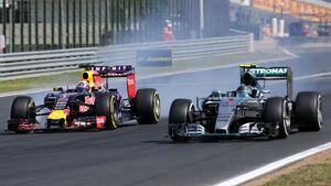 Nico Rosberg - Mercedes - Daniel Ricciardo - Red Bull - GP Ungarn - Budapest - Rennen - Sonntag - 26.7.2015