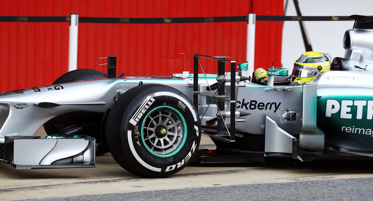 Nico Rosberg Mercedes F1 Test Barcelona 2013