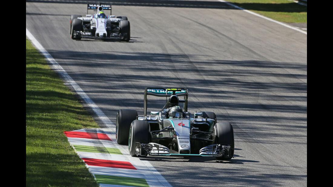 Nico Rosberg - Mercedes - Felipe Massa - Williams - GP Italien 2015 - Monza