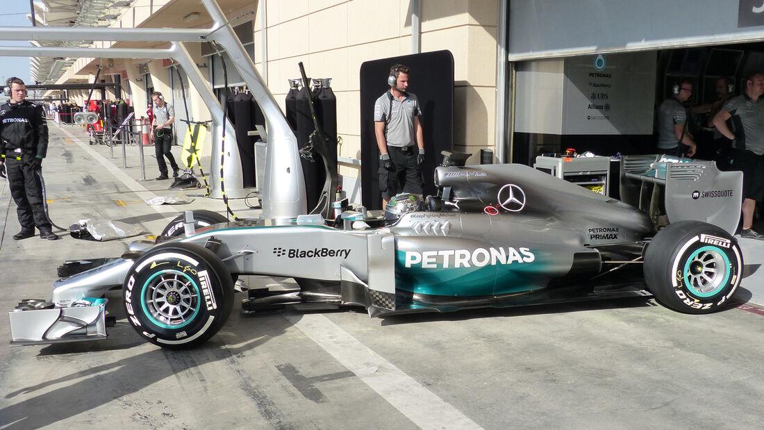 Nico Rosberg - Mercedes - Formel 1 - Bahrain - Test - 1. März 2014