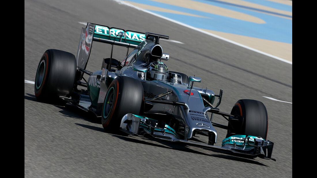 Nico Rosberg - Mercedes - Formel 1 - Bahrain - Test - 20. Februar 2014