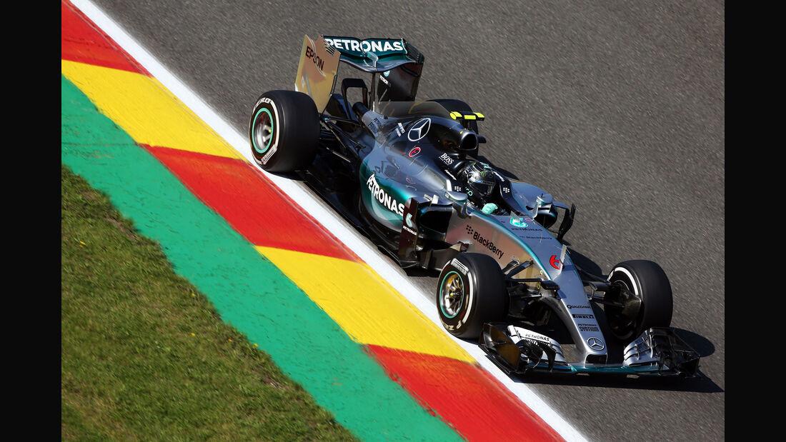 Nico Rosberg - Mercedes - Formel 1 - GP Belgien - Spa-Francorchamps - 21. August 2015