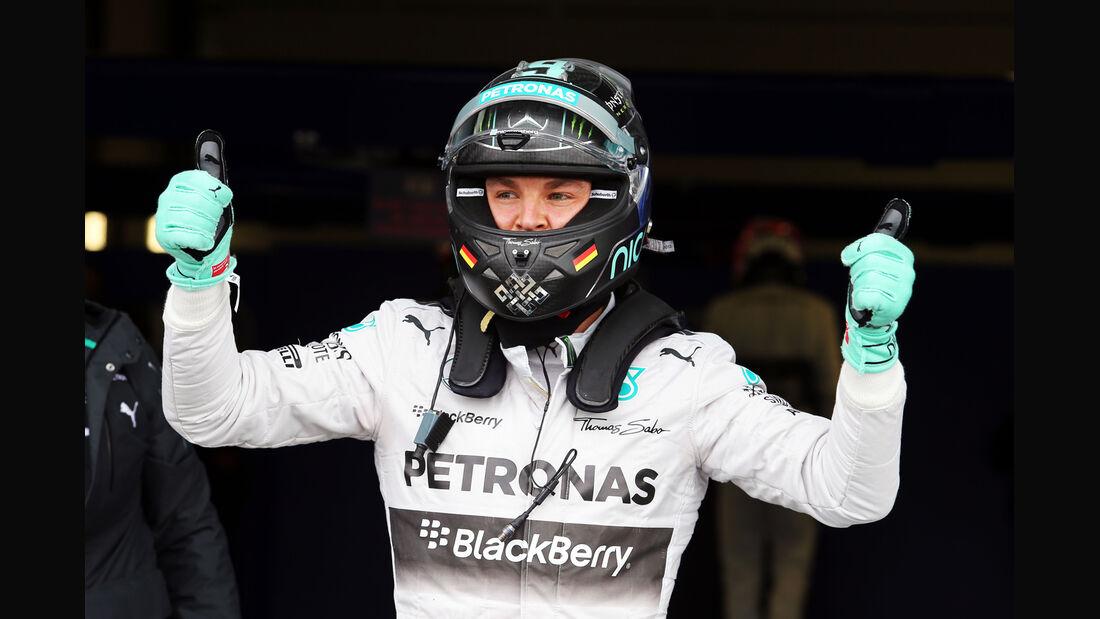 Nico Rosberg - Mercedes - Formel 1 - GP England - Silverstone - 5. Juli 2014