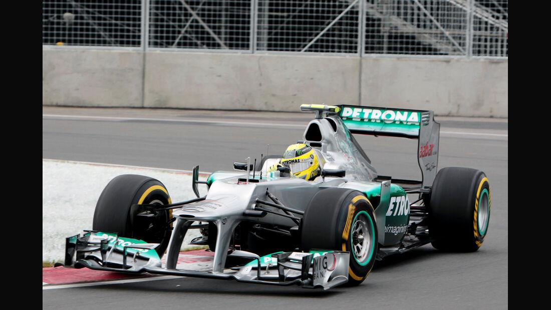 Nico Rosberg - Mercedes - Formel 1 - GP Kanada 2012 - 8. Juni 2012
