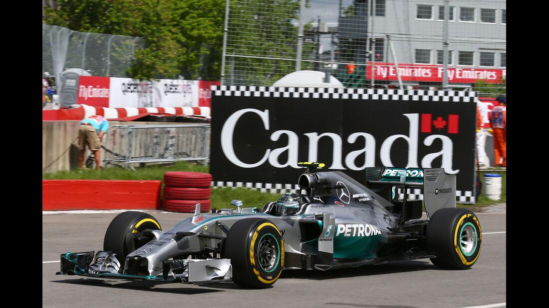Nico Rosberg - Mercedes - Formel 1 - GP Kanada - Montreal - 6. Juni 2014