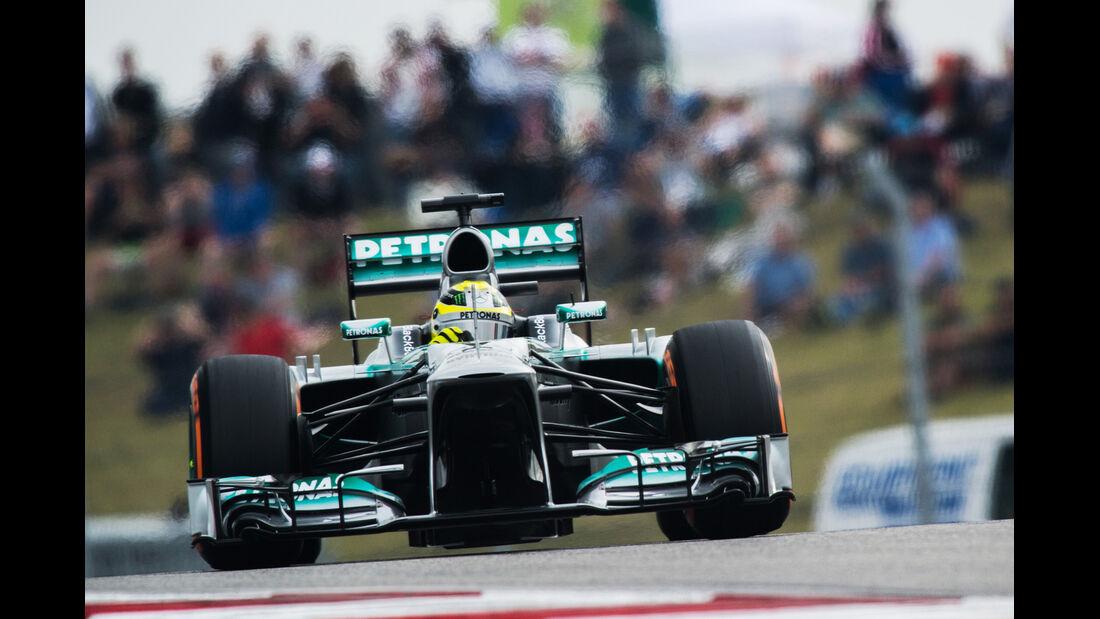 Nico Rosberg - Mercedes - Formel 1 - GP USA - 16. November 2013