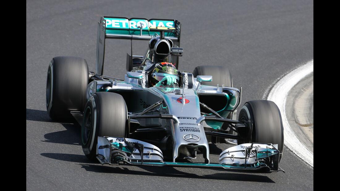 Nico Rosberg - Mercedes - Formel 1 - GP Ungarn - 25. Juli 2014