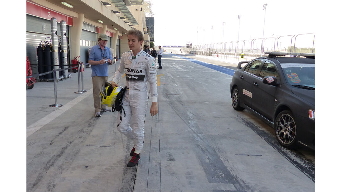 Nico Rosberg - Mercedes - Formel 1 - Test - Bahrain - 20. Februar 2014