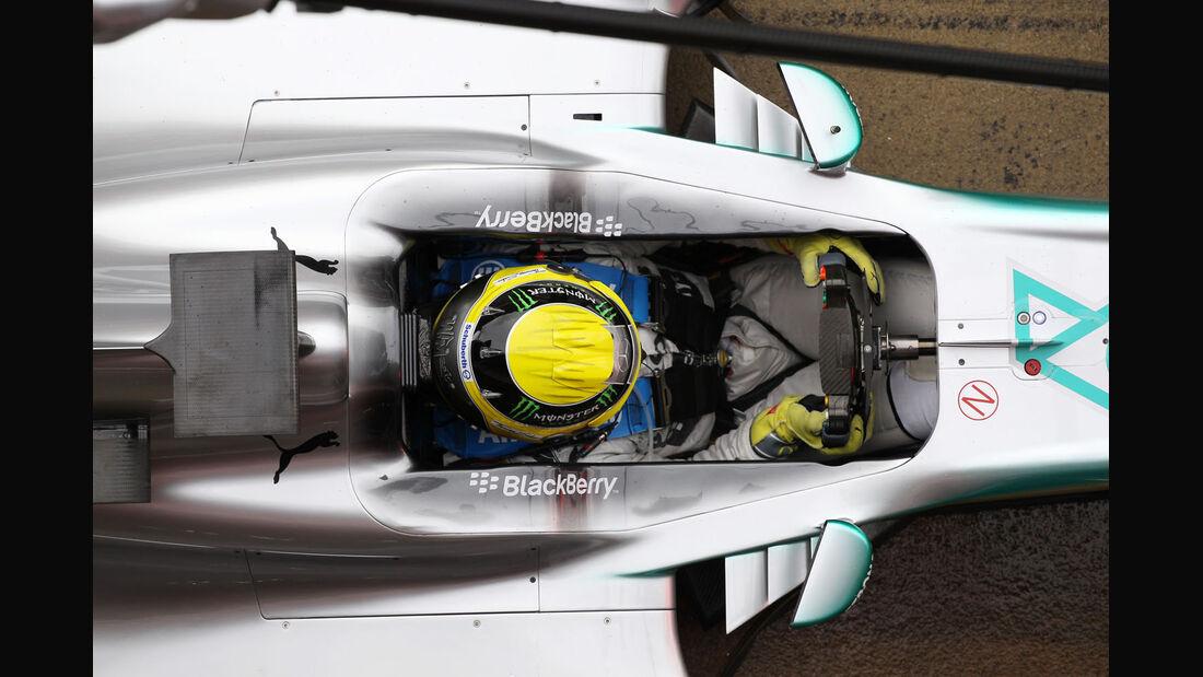 Nico Rosberg, Mercedes, Formel 1-Test, Barcelona, 01. März 2013