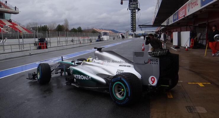Nico Rosberg - Mercedes - Formel 1 - Test - Barcelona - 1. März 2013