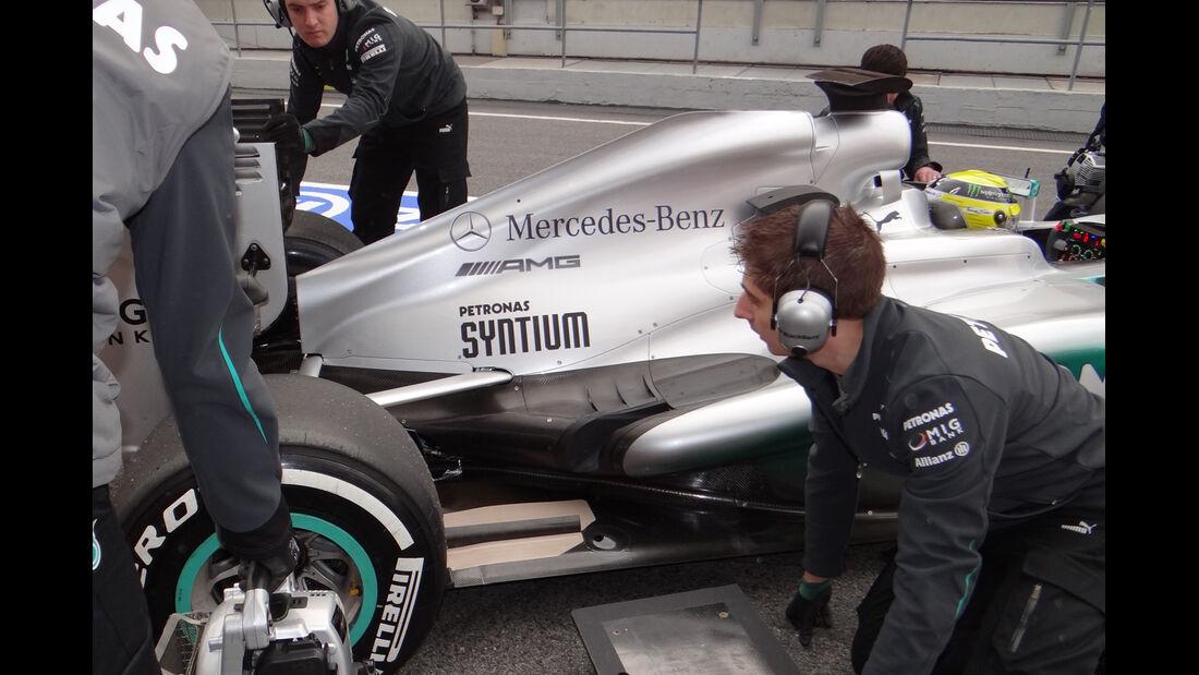 Nico Rosberg - Mercedes - Formel 1 - Test - Barcelona - 19. Februar 2013