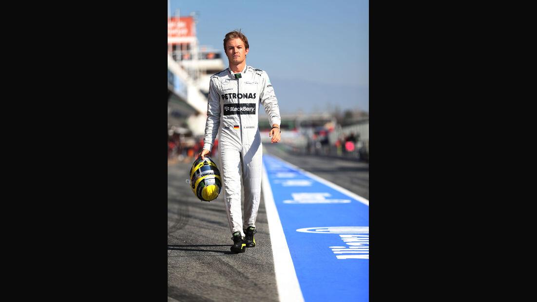 Nico Rosberg, Mercedes, Formel 1-Test, Barcelona, 20. Februar 2013