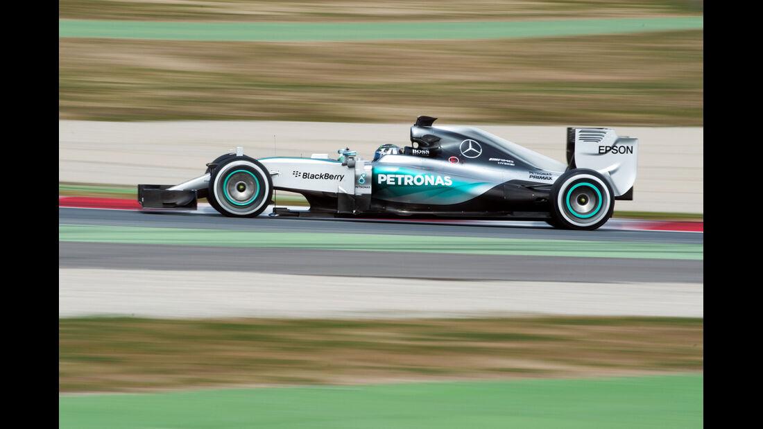 Nico Rosberg - Mercedes - Formel 1-Test - Barcelona - 27. Februar 2015