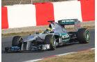 Nico Rosberg - Mercedes - Formel 1-Test Barcelona - 3. März 2012