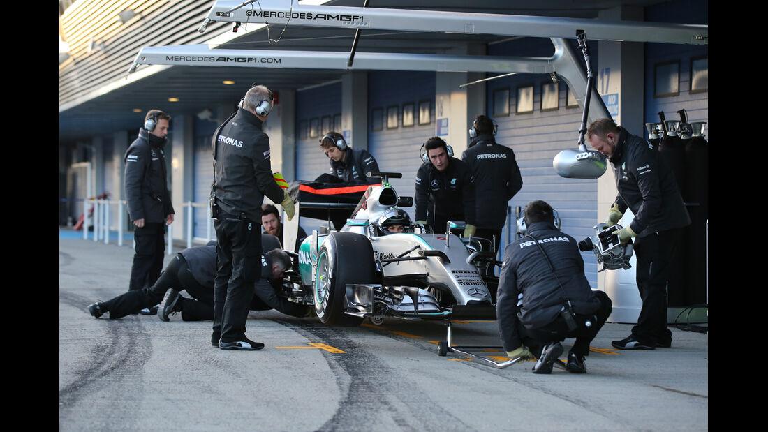 Nico Rosberg - Mercedes - Formel 1-Test Jerez - 1. Januar 2015