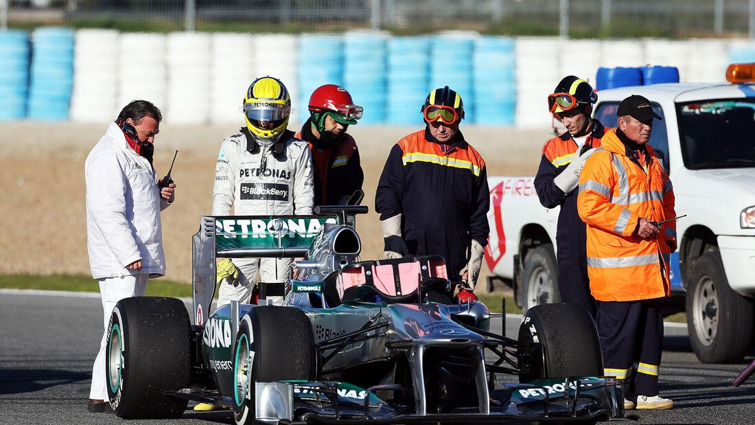 Nico Rosberg - Mercedes - Formel 1 - Test - Jerez - 5. Februar 2013