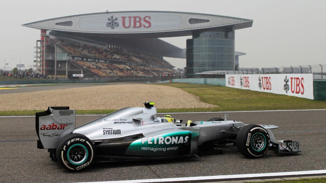 Nico Rosberg Mercedes GP China 2012