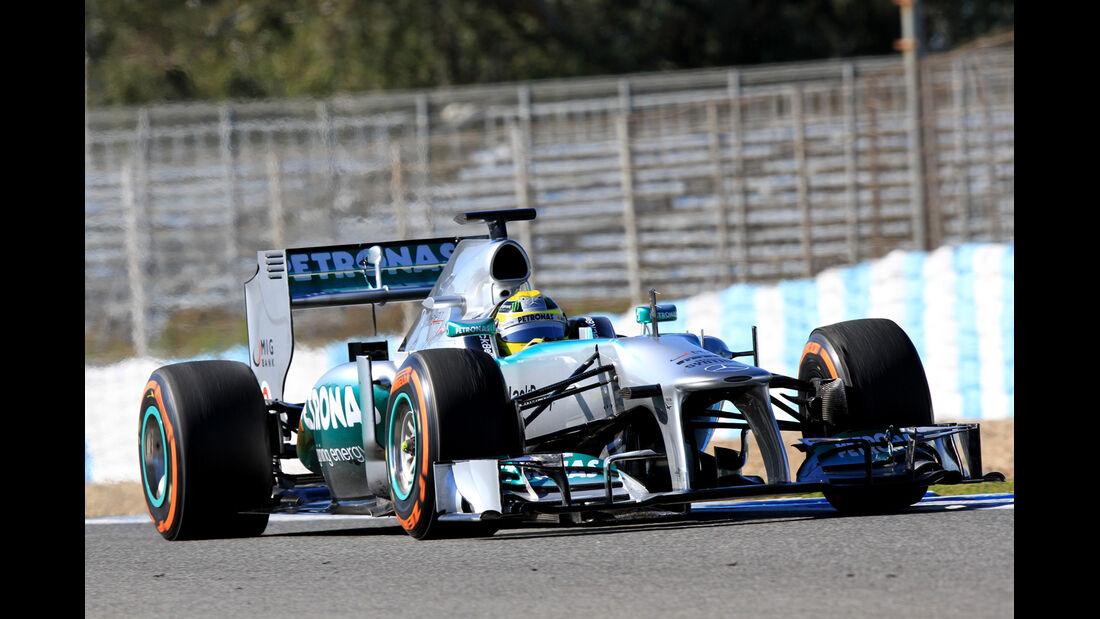 Nico Rosberg, Mercedes GP, Formel 1-Test, Jerez, 7.2.2013