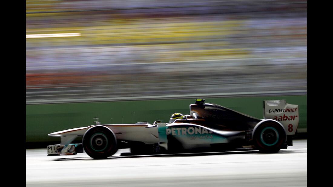 Nico Rosberg Mercedes GP Singapur 2011