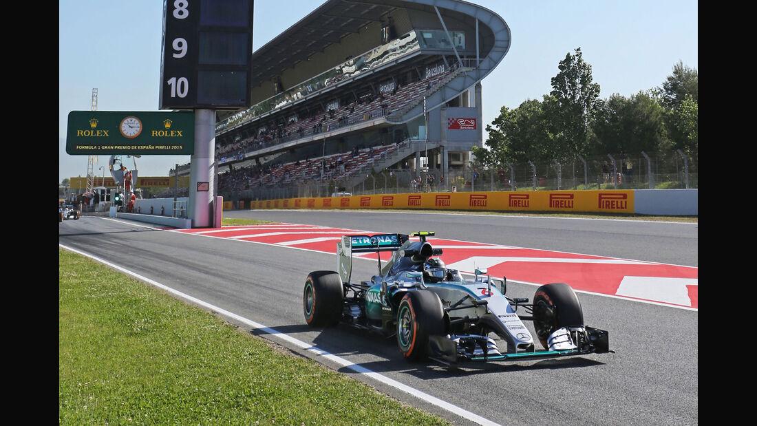 Nico Rosberg - Mercedes - GP Spanien - Barcelona - Freitag - 8.5.2015