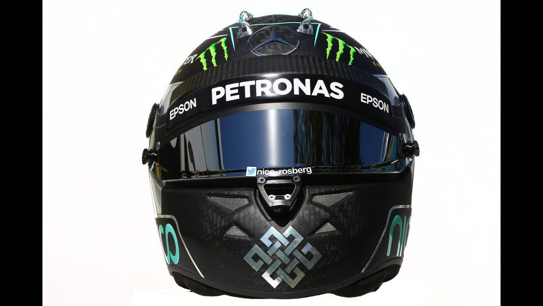 Nico Rosberg - Mercedes - Helm - Formel 1 - 2016