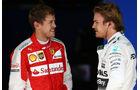Nico Rosberg - Mercedes - Sebastian Vettel - Ferrari - Formel 1 - GP Brasilien- 14. November 2015