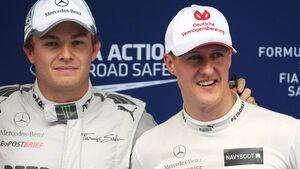 Nico Rosberg Michael Schumacher  - Formel 1 - GP China - 14. April 2012