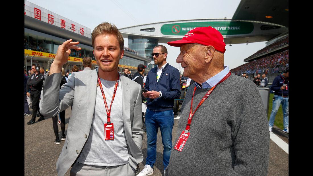 Nico Rosberg & Niki Lauda - Formel 1 - GP China 2018