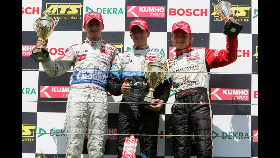 Nico Rosberg, Robert Kubica und Jamie Green
